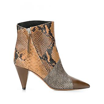 Isabel Marant 19abi036619a063staca Women's Brown Leather Ankle Boots