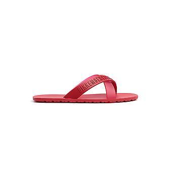 Bikkembergs B6a80375000 Men's Red Pvc Flip Flops