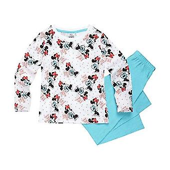 Disney minnie girls pyjama set long turquoise
