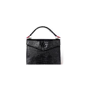 Les Petits Joueurs Pxczvc10 Women's Black Leather Shoulder Bag
