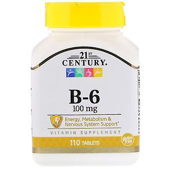 21st century b-6, 100 mg, tablets, 110 ea