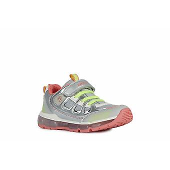 Geox Kids J Android Girl C Lace up and Touch Fastening Trainer