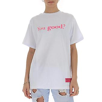 Irène Igtyg003100 Femmes-apos;s White Cotton T-shirt