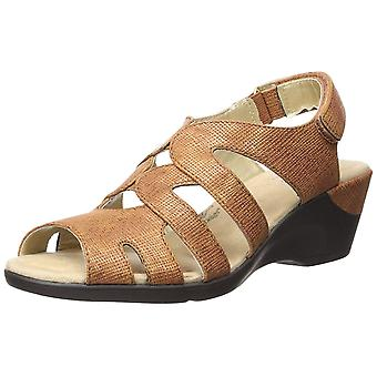 Soft Style Womens Patsie Leather Peep Toe Casual Ankle Strap Sandals