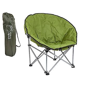 Summit Orca Moon Chair Portable Festival Outdoors Camping Padded Bucket Seat - Green