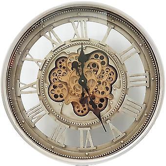 Horloge de rouages ronds ronds de 60cm romaines classiques de mouvement rond - Argent
