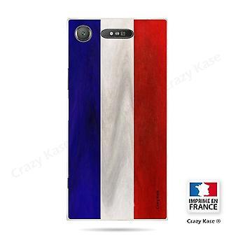 Rumpf für Sony Xperia Xz1 Flexible Französisch Vintage Flagge