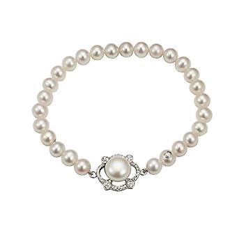 Adriana Donna 9 carati argento Perle coltivate d'acqua dolce bianco Zirconia cubica FINENECKLACEBRACELETANKLET