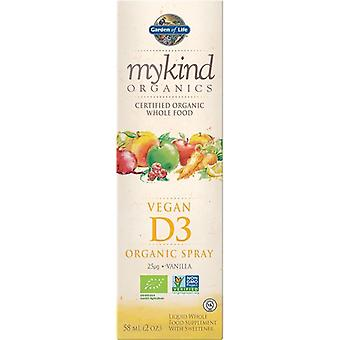 Garden Of Life Mykind Organics Vegan D3 Spray 58ml 1241
