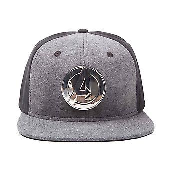 Avengers Baseball Cap Metal Logo new Official Marvel Black snapback