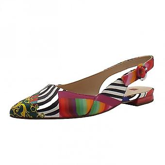 Högl 9-10 0103 Cheery Stylish Pointed Toe Slingback Shoes In Multi-colour