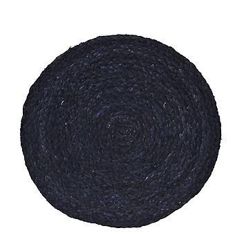 Coasters Black Round 4-pack Materiales Naturales