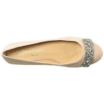 Jessica Simpson Womens Genevia Fabric Almond Toe Ballet Flats