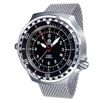Tauchmeister T0308MIL automatic diving watch with Milanese band XXL