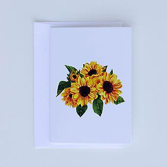 Beautiful Sunflower Note Cards Set of 6 Charity Card