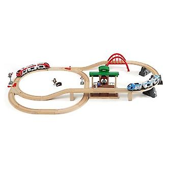 BRIO Travel Switching Set 33512 42 Piece Powered Wooden Train Set - Great Value
