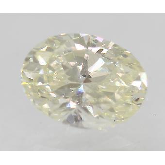 Certified 0.82 Carat I Color VVS2 Oval Enhanced Natural Diamond 6.78x5.03mm