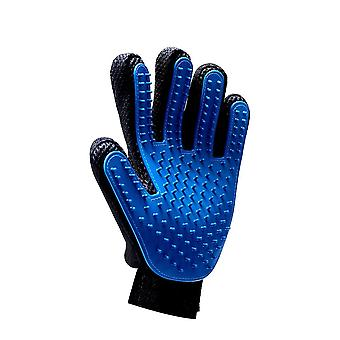 Blue Left Hand Silicone Pet Grooming Glove