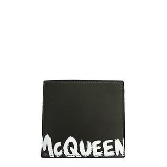Alexander Mcqueen 6021371nt6b1070 Männer's Schwarze leder Brieftasche