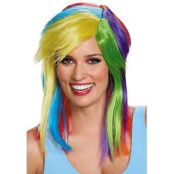 Rainbow Dash aikuisten peruukki
