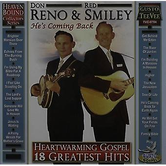 Reno, Don / Smiley, Red - Heartwarming Gospel: 18 Greatest Hits [CD] USA import