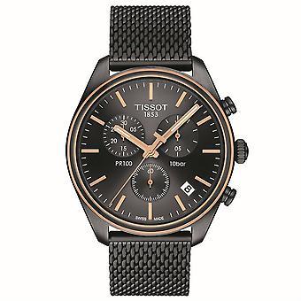 Tissot T101.417.23.061.00 PR 100 Chronograph Black Dial Men's Watch