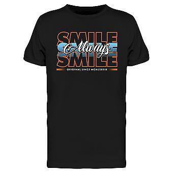 Siempre Sonrisa Diseño Camiseta Hombres's -Imagen por Shutterstock