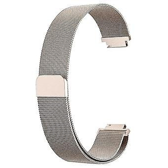 """Dla Fitbit Inspire / 2 / HR / Ace 2 Pasek Milanese Band Ze stali nierdzewnej magnetyczne[małe (5.3""""-7.9""""),Champagne Gold]"""
