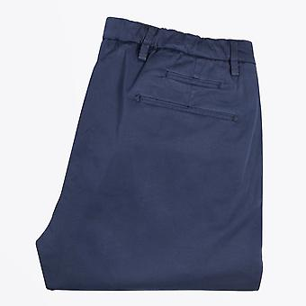 Briglia  - Washed-Effect Elasticated Chinos - Navy Blue