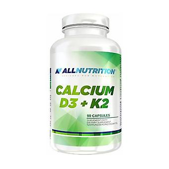 Calcio D3 + K2 90 cápsulas