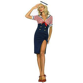 Scheepsjongen Diva matroos Navy Retro Rockabilly jaren 1950 vrouw kostuum