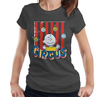 Erdnüsse Zirkus Jonglieren Charlie Brown Frauen's T-Shirt