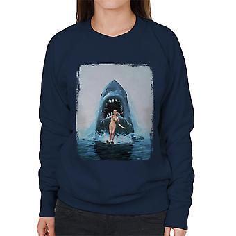 Jaws 2 Water Ski Women's Sweatshirt