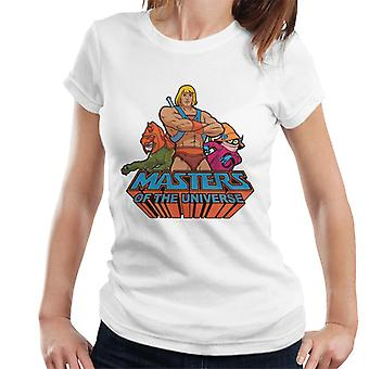 Masters Of The Universe He Man Battle Cat And Orko Women's T-Shirt