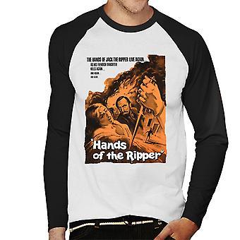 Hammer Horror Filme Hände des Ripper Film Poster Männer's Baseball langärmelige T-Shirt