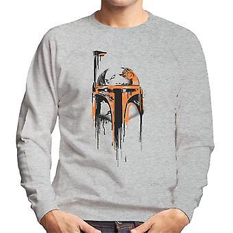 Star Wars Boba Fett Paint kypärä miesten ' s College pusero