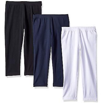 Essentials Little Girls' 3-Pack Capri Legging, Navy Blazer/Black Beaut...