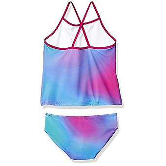 Essentials Little Girls' 2-Piece Tankini Set, Ombre Purple, X-Small