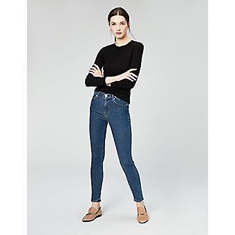 العلامة التجارية - طقوس اليومية Women's Rib Knit Jersey طويل الأكمام طاقم الرقبة شي ...