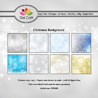 Dixi Craft Christmas Background 6x6 Inch Paper Pack