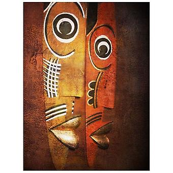 Oil on Canvas - Painting on Hand Painted Canvas - Masks - Modern Painting Stay