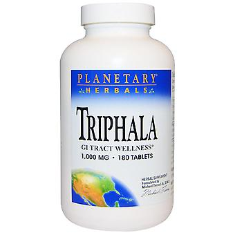 Planetary Herbals, Triphala, GI Tract Wellness, 1.000 mg, 180 Tabletten