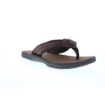 Tommy Bahama Sumatraa Mens Brown Lederen Flip-Flops Sandals Schoenen