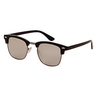 Gafas de sol Unisex negro con lente de espejo (2190 P)