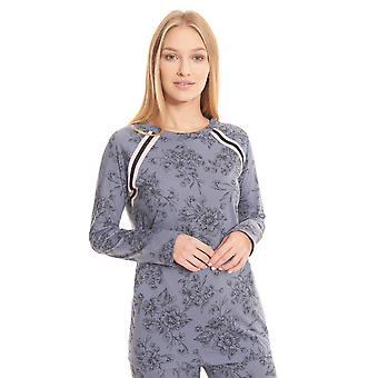 Rösch be happy! 1202123-11999 Women's Smokey Blue Print Pyjama Top