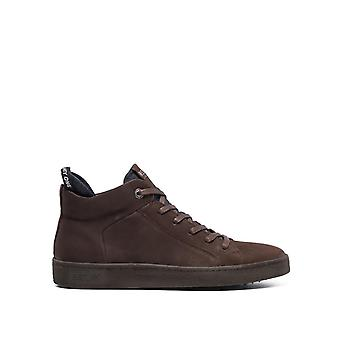 Replay Men's Brightoon Lace Up Mid Cut Leather Sneakers