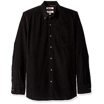 Goodthreads Men's Slim-Fit Long-Sleeve Corduroy Shirt, -black, X-Small
