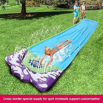 4.8m Children's Waterslide Summer Lawn Outdoor Grass Water Spray Sheet Man Kids Surfing Slide Board Garden Toys