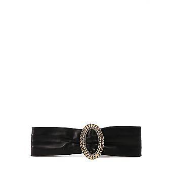 Alessandra Rich Faba2236l007900 Mujer's Cinturón de cuero negro