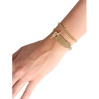 A.p.c. Meaccf70617raa Women's Gold Brass Bracelet